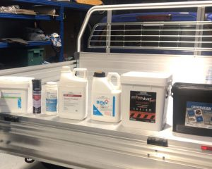 Chemical product labels in ute